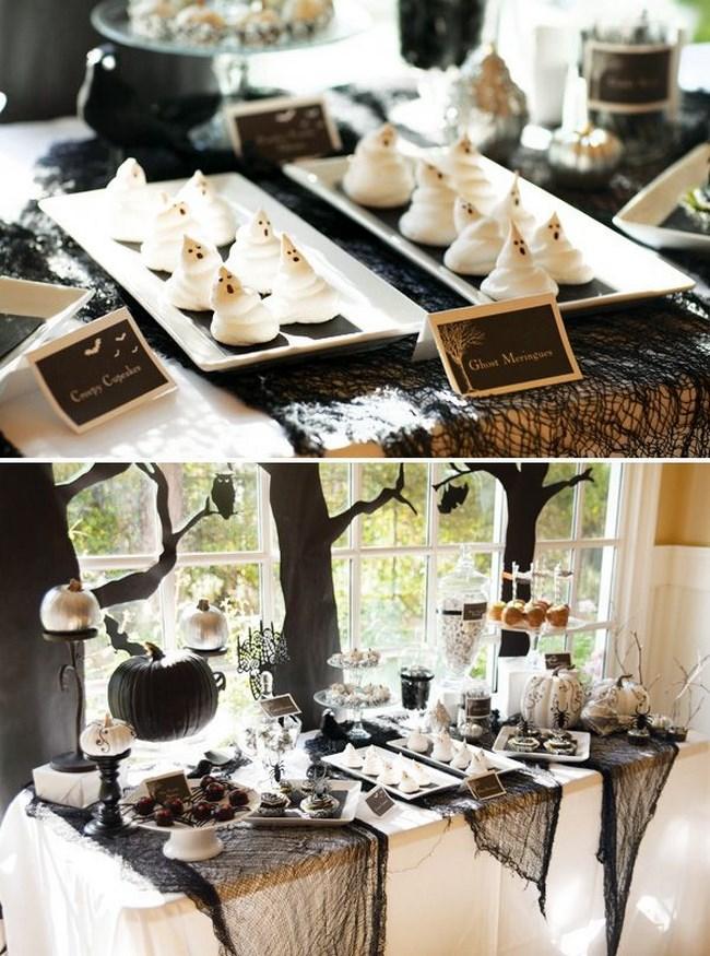 cómo decorar una mesa para halloween