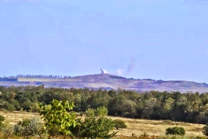 Monument on Savur-Mohyla crashed down after the shelling.