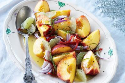 Peach, lime & chilli salad Recipe