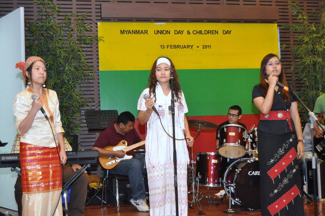 Burmese in Singapore Celebrate Burma Union Day and Birthday of Suus Father