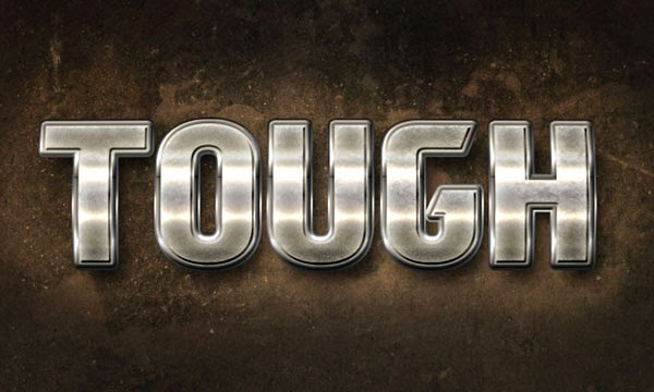 Metal Text Effect Adobe Photoshop Tutorial