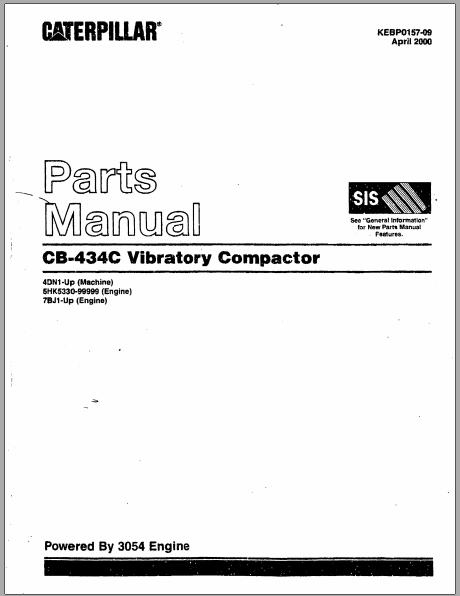 caterpillar cb434c vibratory compactor parts manual heavy rh heavyequipmentworkshopmanuals blogspot com Komatsu Equipment Komatsu D575