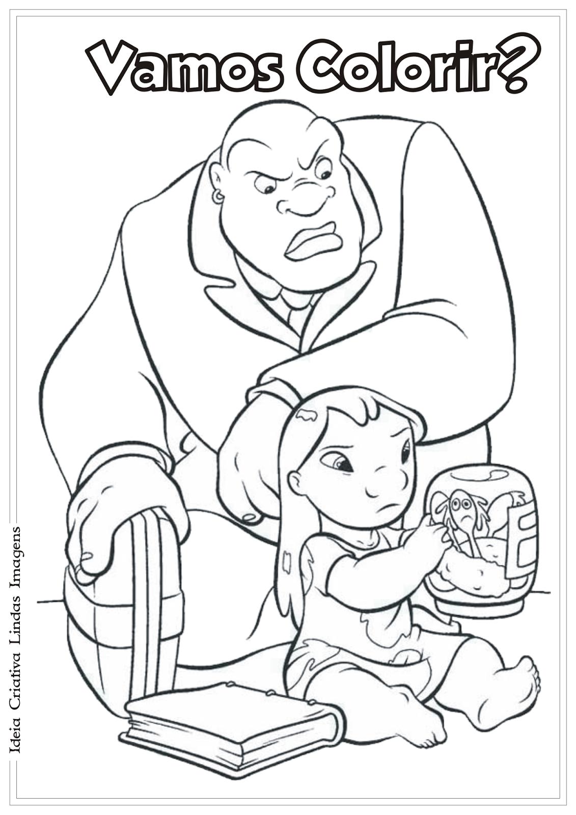 Lilo e Stitch desenho para colorir
