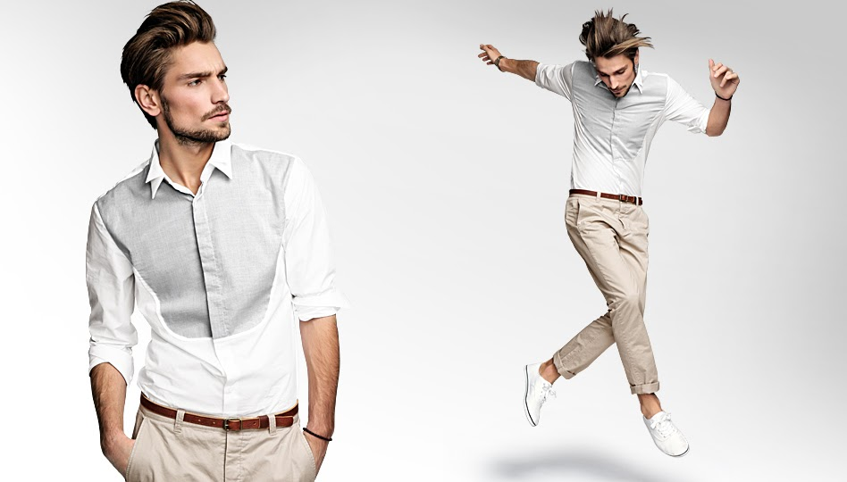 What to wear hair white button up shirt brown belt for White shirt brown buttons