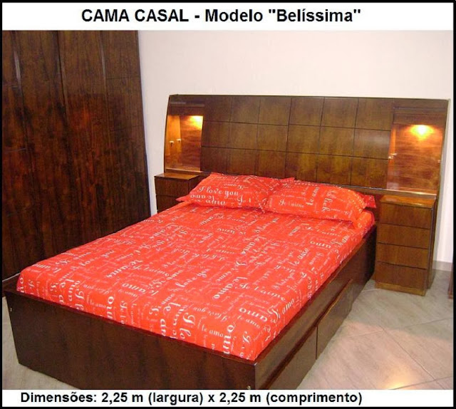 cama de casal com baú