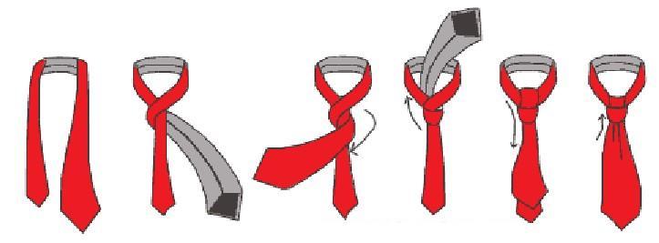 Как завязывать галстук картинки