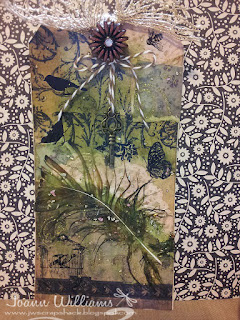 Mixed Media tag using ranger products