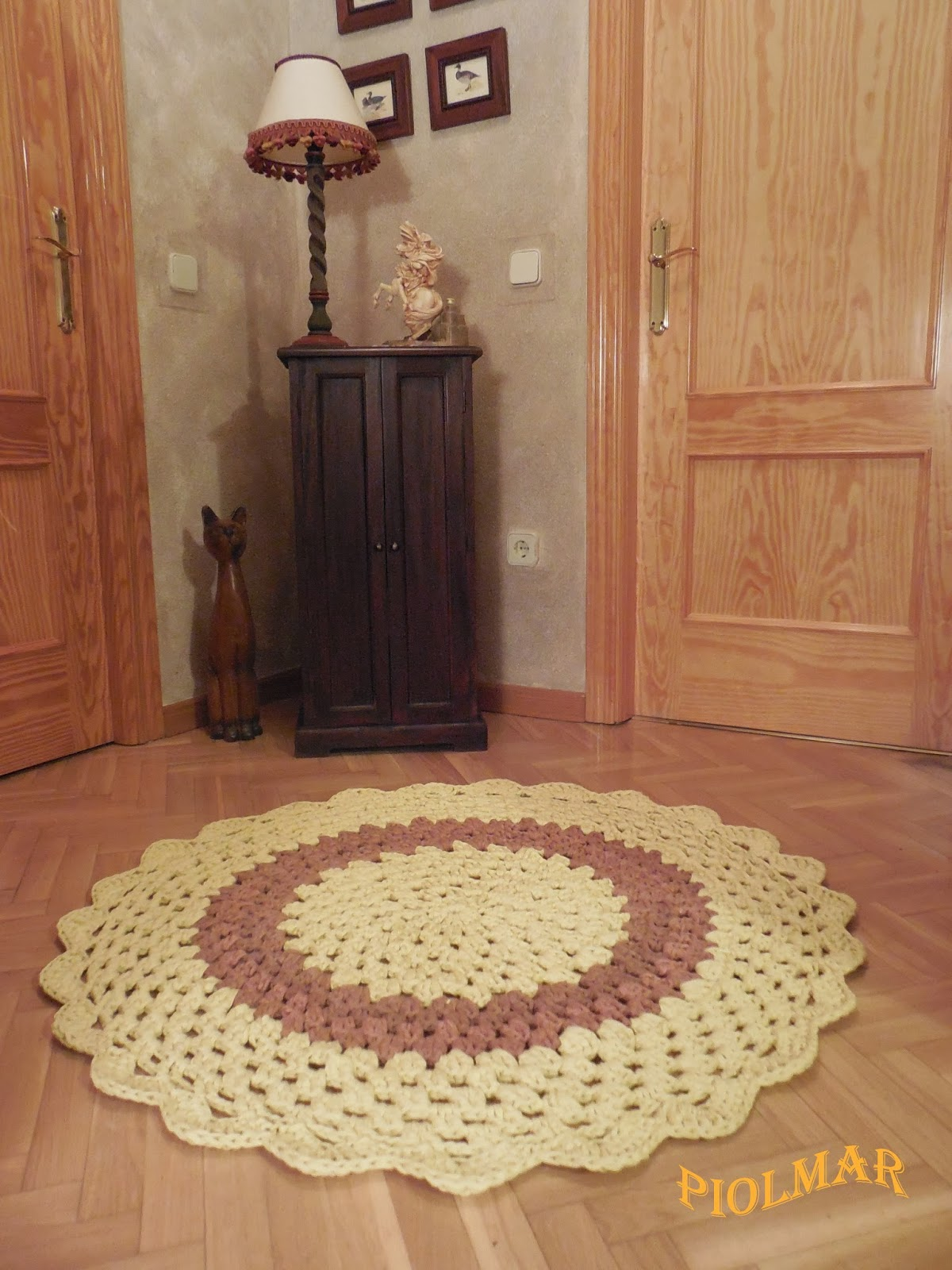 El blog de la abuela mary alfombra de trapillo redonda - Como hacer alfombras de trapillo redondas ...