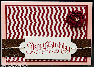 Perfectly Penned Chevron Card by Stampin' Up! Demonstrator Bekka Prideaux
