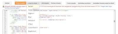 cara menghapus navbar pada blogspot blogger