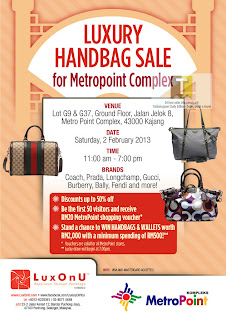 LuxOnU CNY Luxury Handbag Sale 2013