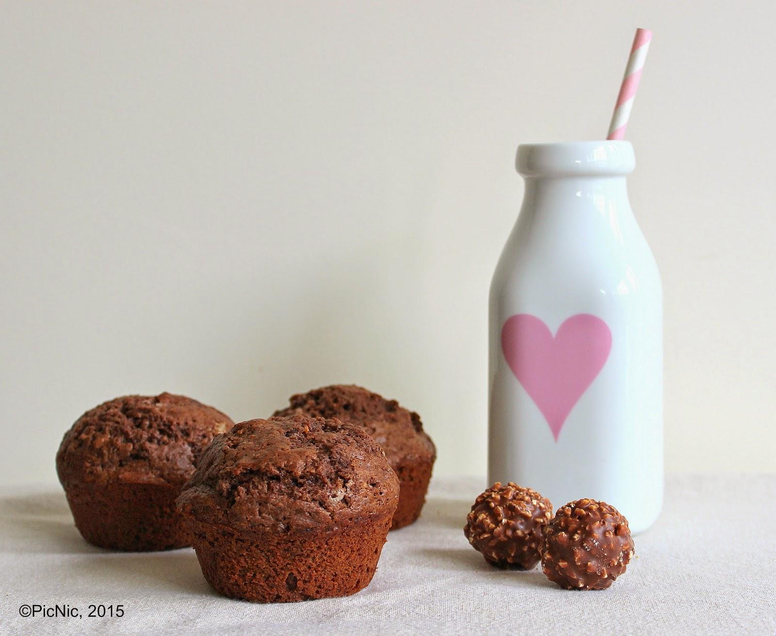 Ferrero Rocher Muffins