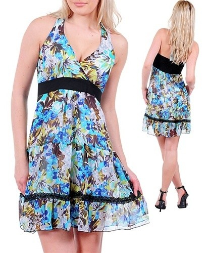 Short Junior Floral Print Dress