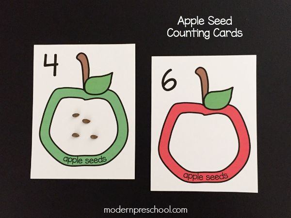 photo regarding Apples to Apples Cards Printable identified as Apple Seed Counting Playing cards