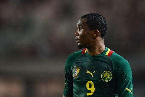 Cameroon striker Samuel Eto'o in action during their World Cup qualifier against Tunisia