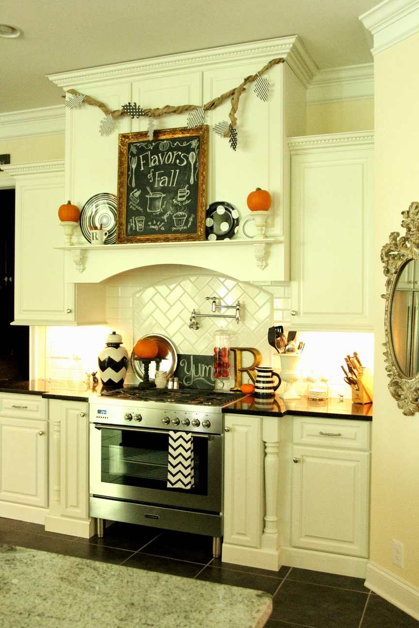 Kitchen Chalkboard With Shelf My Fall Kitchen Decor And A Free Fall Chalkboard Printable Less