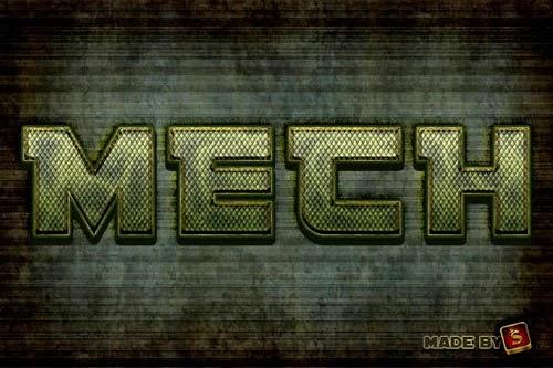 Army Metallic Text Style