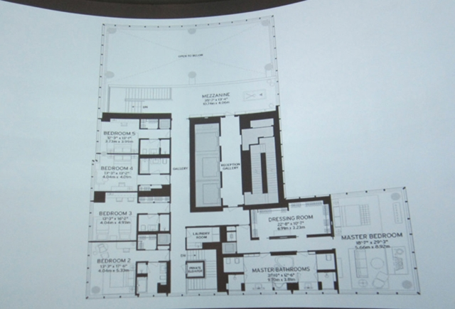 Floor plan of One 57 by Christian de Portzamparc