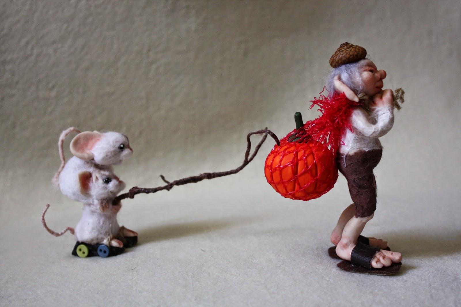 "ooak mice mouse elf elfo gnomo topo topi prosculpt ""living doll"" miniatura"