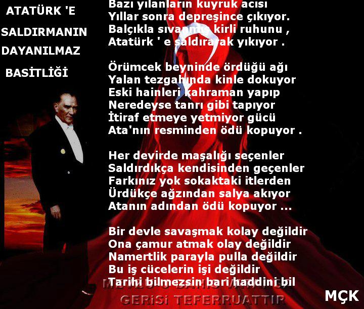 Atatürk E Saldirmanin Dayanilmaz Basitliği Yakamoz şiirler