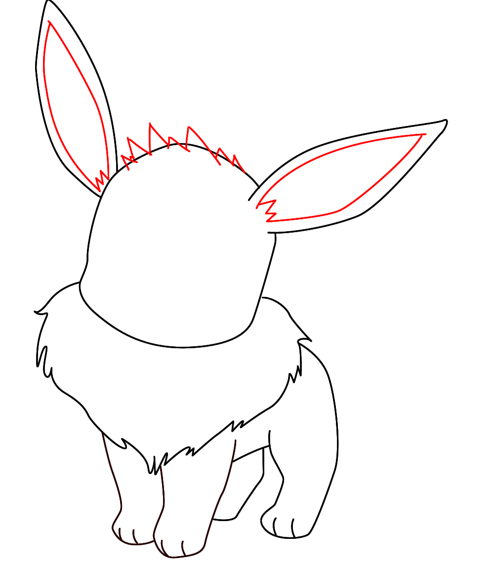 Uncategorized Pokemon That Are Easy To Draw how to draw eevee pokemon central step 6