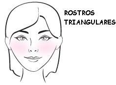 rubor parar rostro triangular