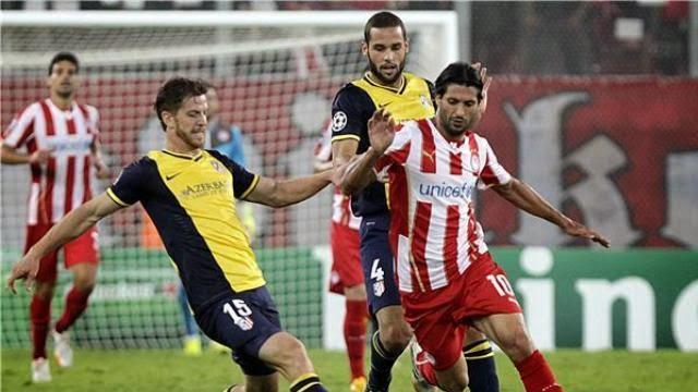 الومبياكوس يفوز على اتلتيكو مدريد