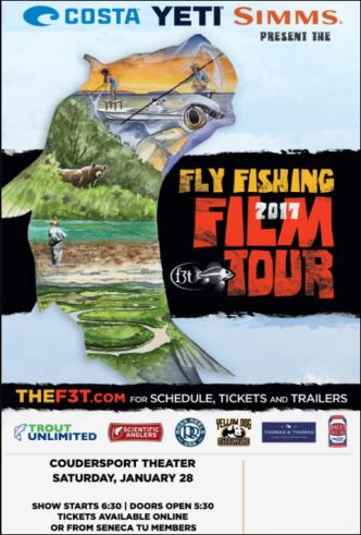 1-28 Fly Fishing Film Tour Coudersport Theatre