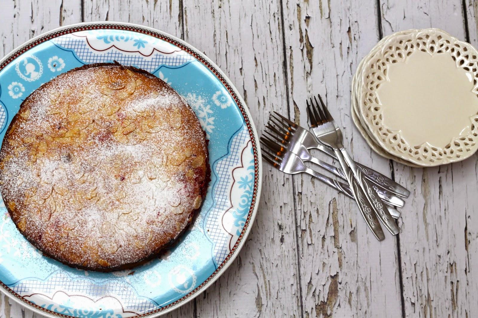 Raspberry and Lemon Bakewell cake