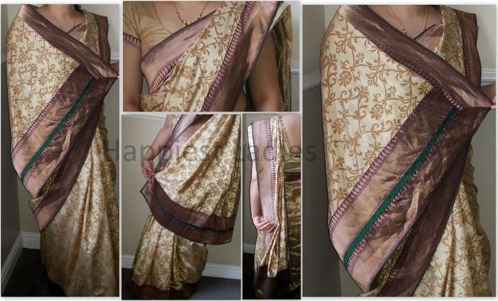how to drape a saree