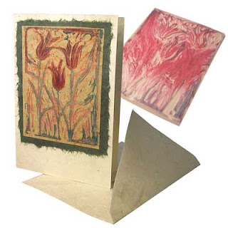 Hand made card printed with Lumiere