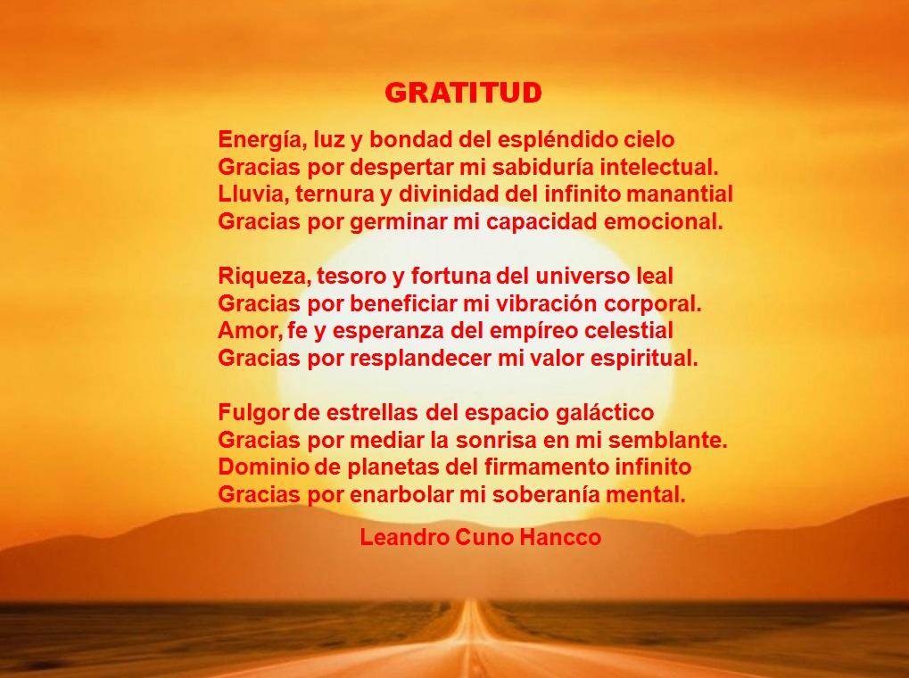 poemas de gratitud