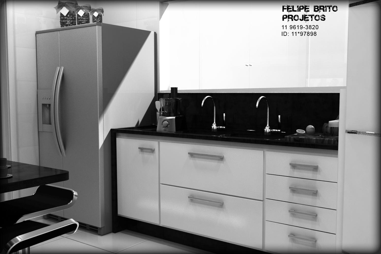 Cozinha residencial com Pia em tampo mármore preto (são gabriel  #1F1F1F 1500 1000