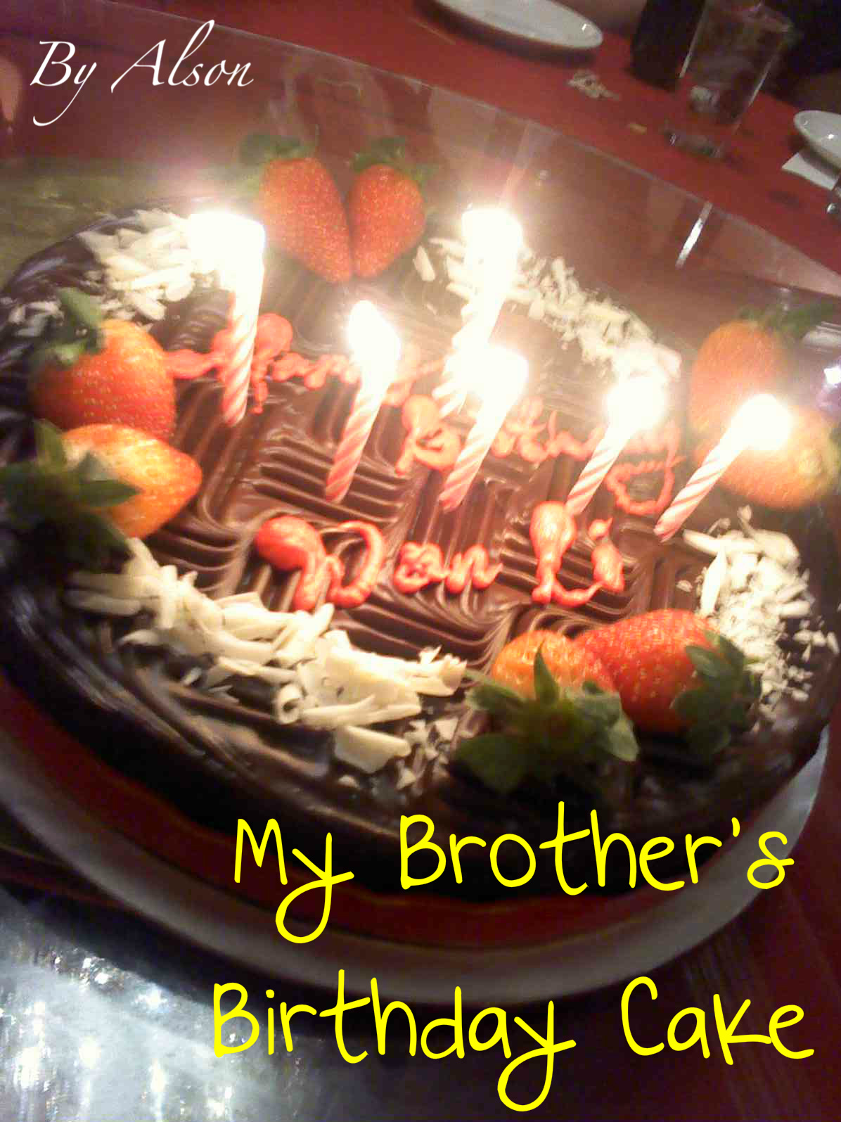 Birthday Cake Pics For Elder Brother Feeling Like Party