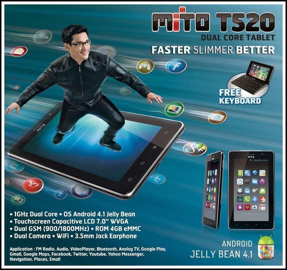 Mito T520 Tablet Android Jelly Bean Murah Harga Dibawah 1.5 Juta