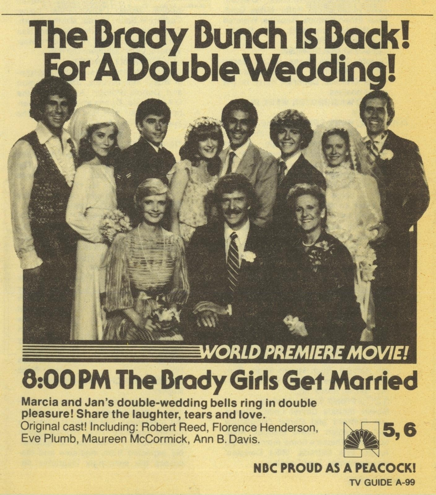 The Brady S Get Married Tv Guide Ad