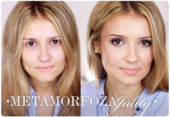 Alina Rose Blog Kosmetyczny Metamorfoza Julity Maklijaż Fioletowo