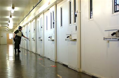 The Adjustment Center group of cells housing death row inmates inside San Quentin, CA, USA