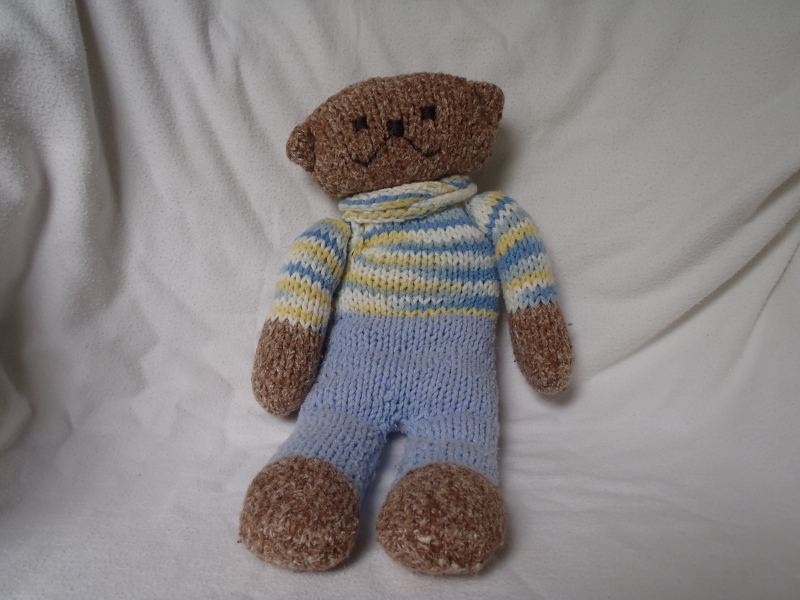 Stanas Critters Etc Knitting Pattern For Baby Bear In Pj