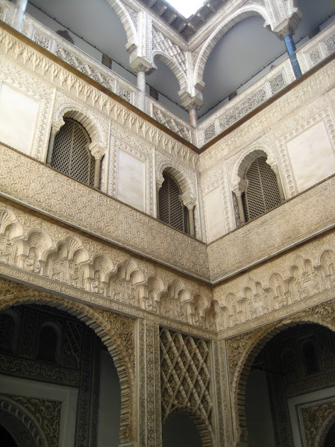 The Alcazar, or Royal Palace in Seville, Spain.