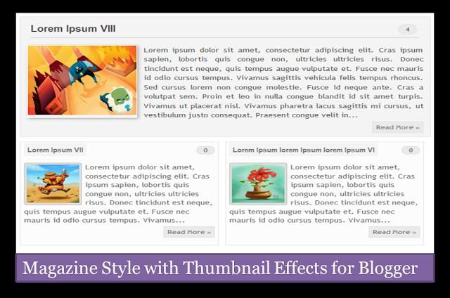 Magazine style for blogger, Magazine style thumbnails