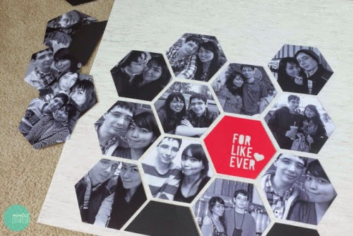 diy black and white printed photo collage