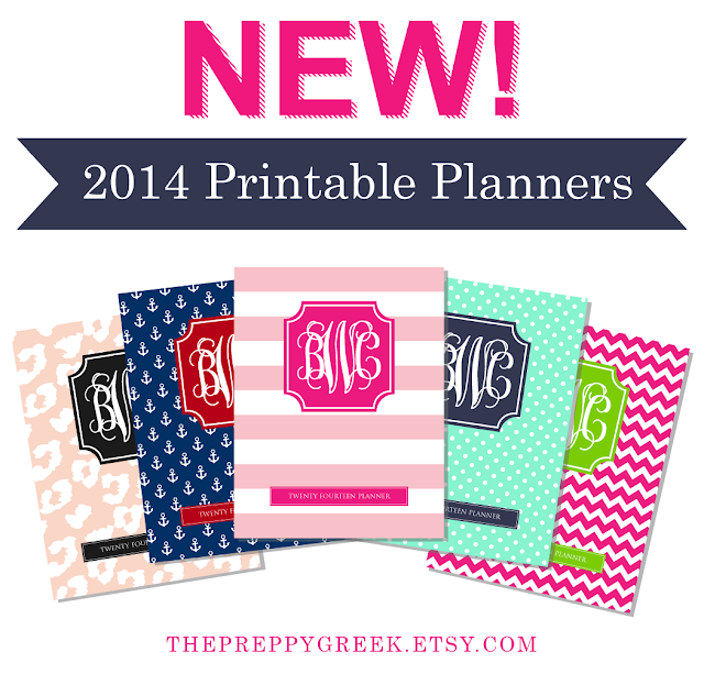 2014 Printable Planners by Jessica Marie Design