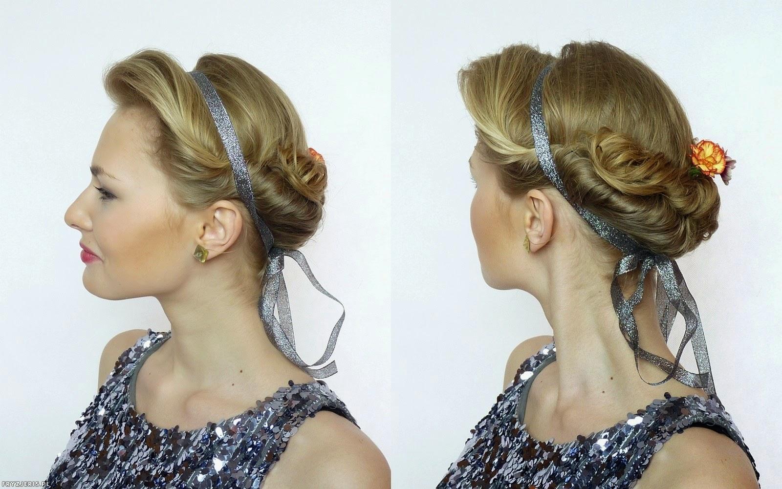 Fryzury ślubne z wstążką - Daria Kozieł