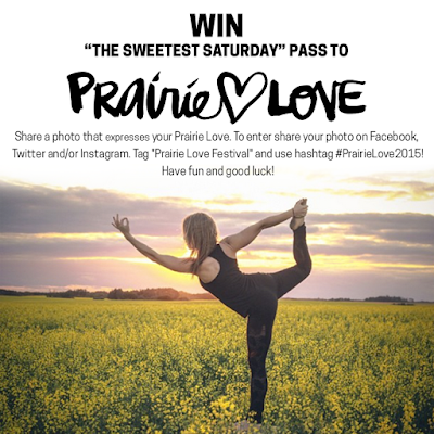 #PrairieLoveFestival, #PrairieLove2015, ONline Contest, Prairie Love Festival, The Sweetest Saturday.