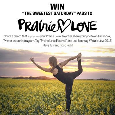 #PrairieLoveFestival, #PrairieLove2015, ONline Contest, Prairie Love Festival, The Sweetest Saturday.