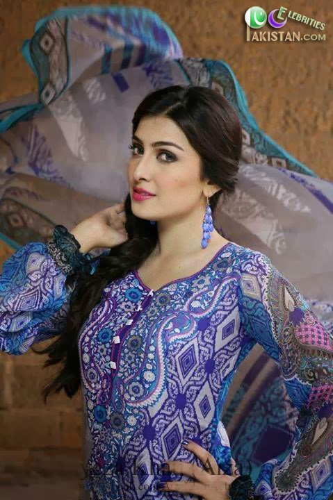 Ayeza Khan Latest Photoshoot For Yashfeen Lawn 2014