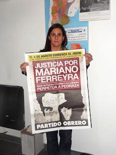 LA VICEDECANA DE LA FACULTAD DE DERECHO DE LA UNICEN TAMBIÉN PIDE JUSTICIA POR MARIANO