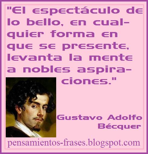 frases de Gustavo Adolfo Bécquer