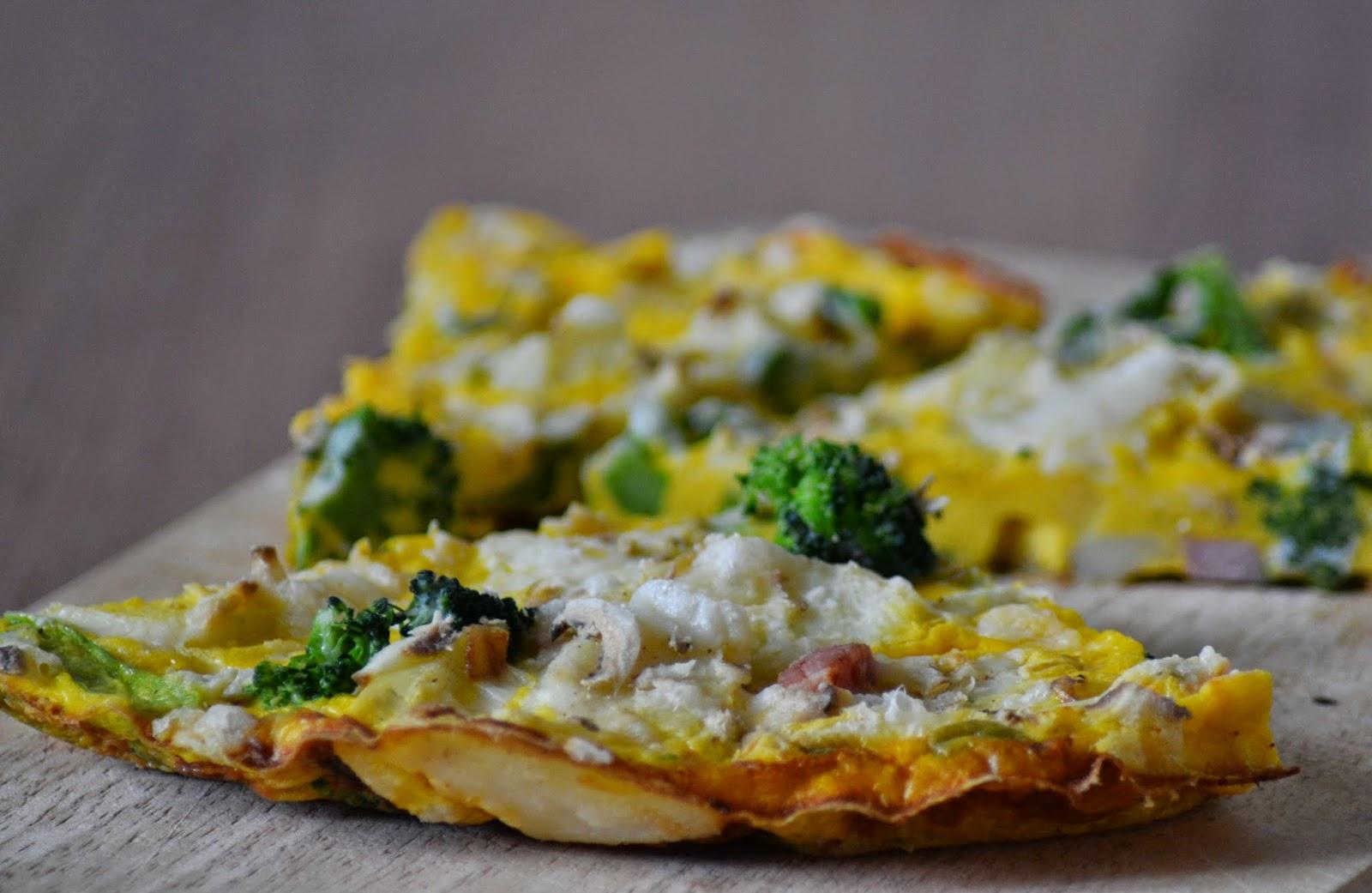 aardappeltortilla met broccoli